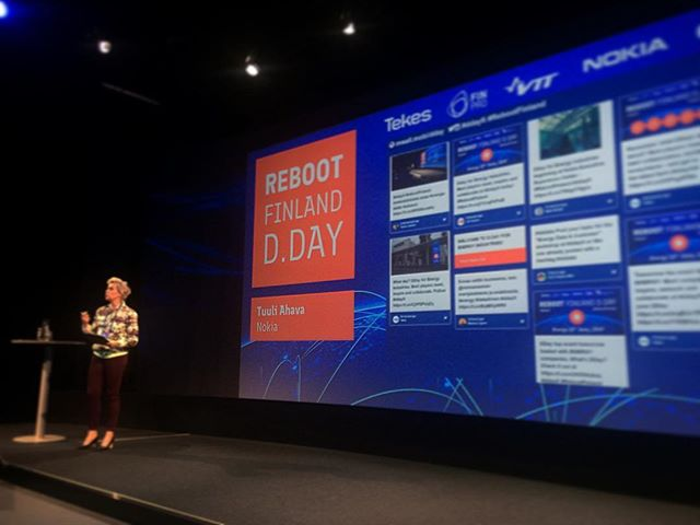 Tuuli Ahava kicking off the Energy D.Day event. #ddayfi #rebootfinland #finpro
