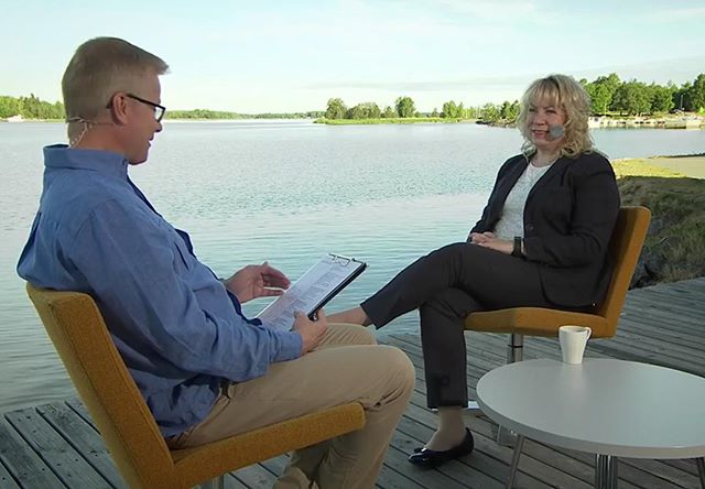"""The ambition level is high"", said Riitta Björkenheim about the GigaVaasa initiative on the Finnish national TV."