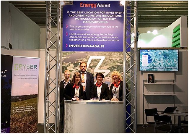 GigaVaasa goes Munich 🙌 - EES Europe is the largest and most international exhibition for batteries and energy storage systems in Europe. GigaVaasa is having a booth with our partners Akkurate, FMG and Geyser Batteries.