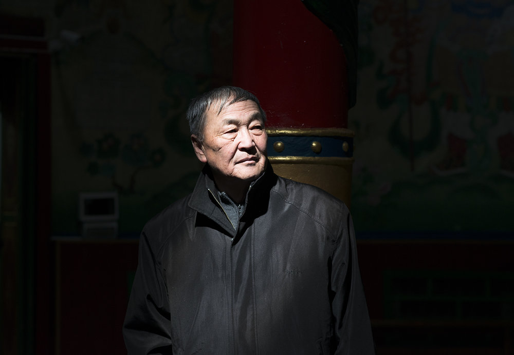Dr Shaariibuu Setev at a Buddhist temple in Ulaanbaatar, Mongolia on April, 2016
