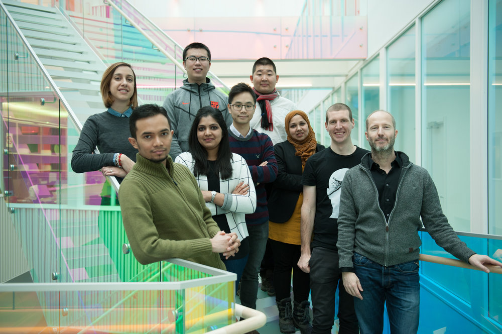 From left to right: Enrichetta, Kadir, Jiarui, Amitha, Kelvin, Mickaël, Tahmina, Matthias, Carsten
