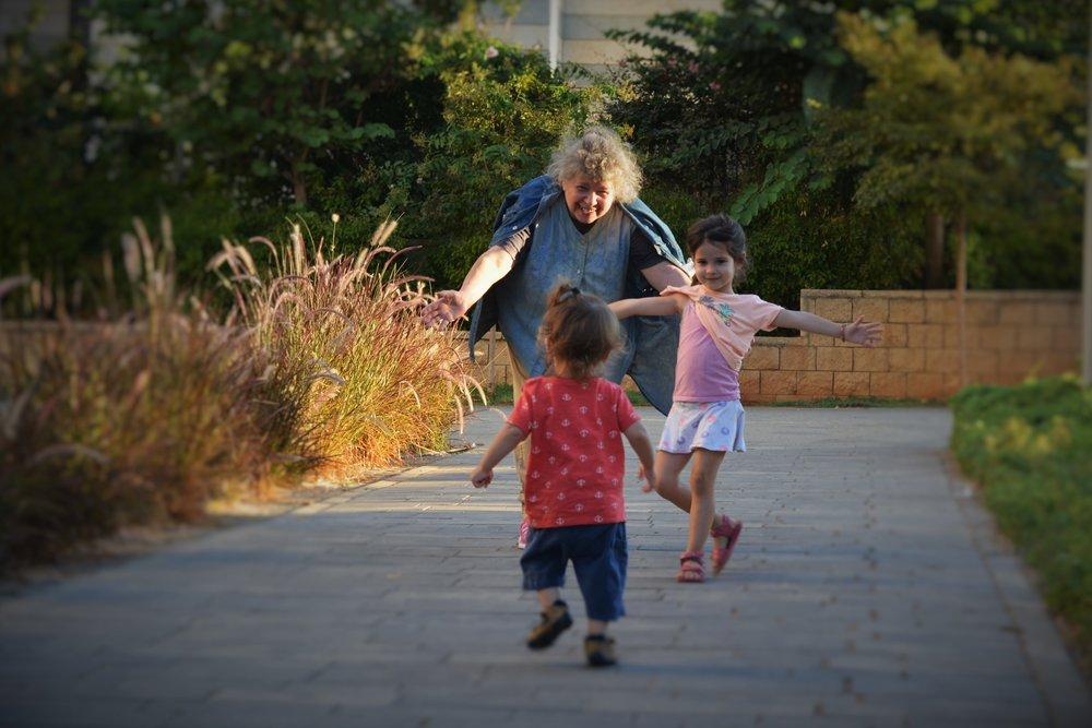 Ariel running to Buna and Danielle.jpg