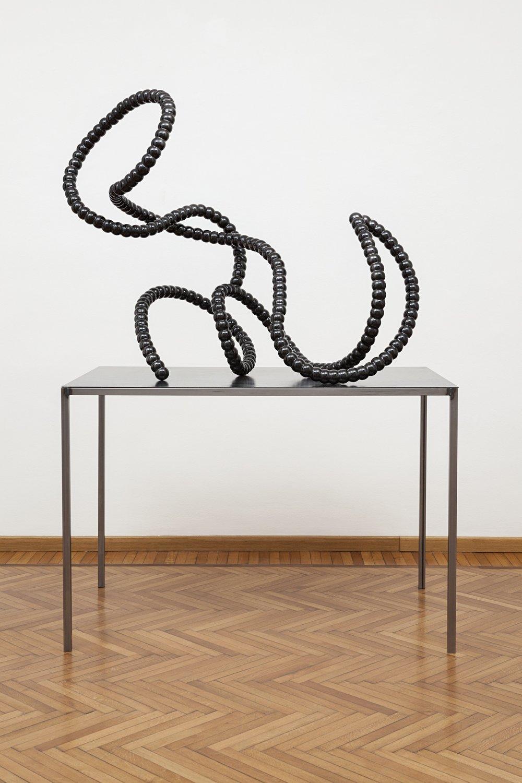 Heavy Intruder (2015)  Vitreous Enamelled Steel  125 x 62 x 108 cm