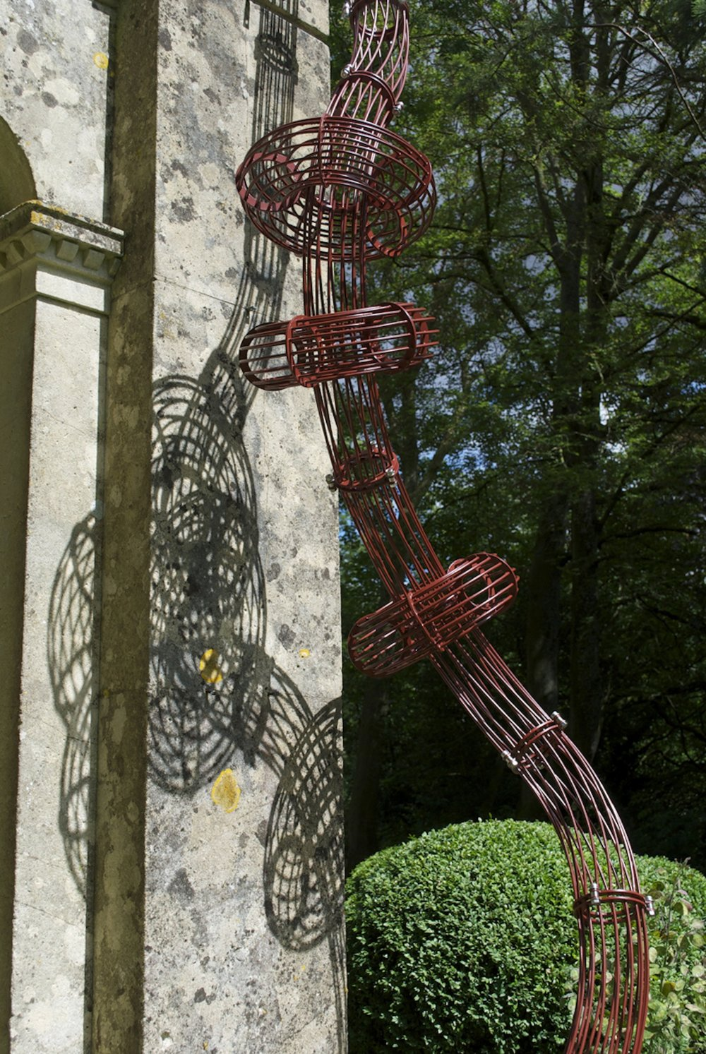 Untitled (Climbing) (2015)  Galvanised and Powder Coated Steel  Installation in two parts