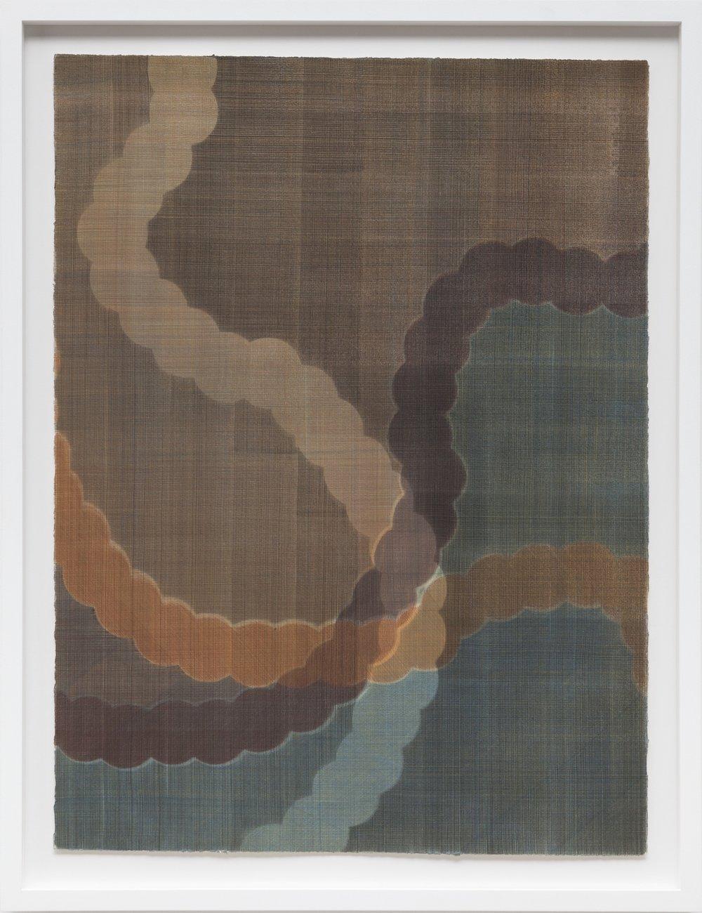 X (fourth) (2015)  Casein Paint on Paper  86 x 66 cm