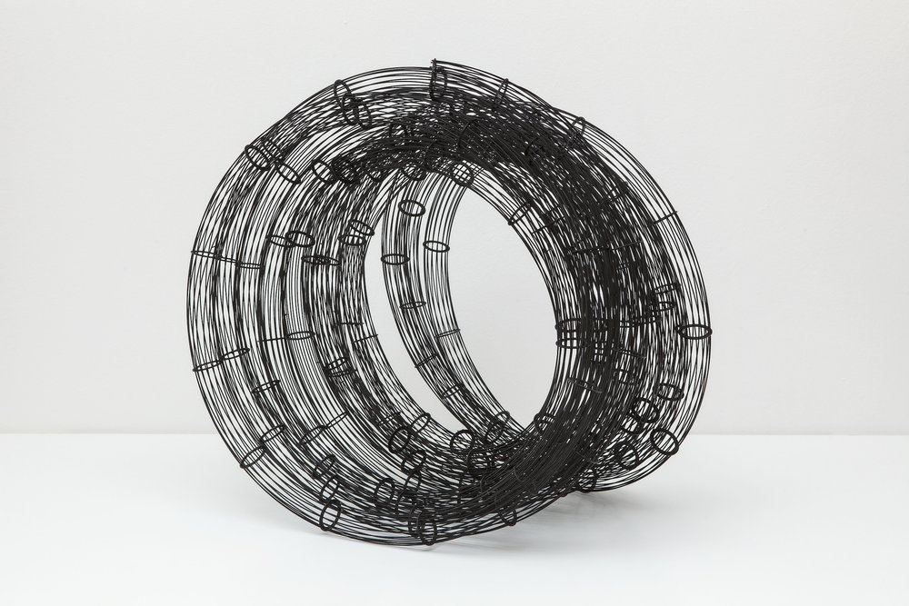 Untitled (Winding) (2014)  Soldered Steel and Enamel Paint  75 x 80 x 60 cm