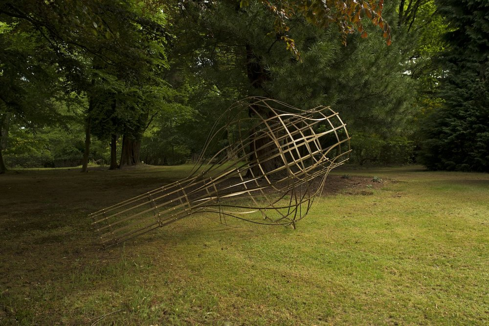 They are the mysteries and these are the traps of the mysteries, (2017)  Solid Brass  335 x 180 x 180 cm