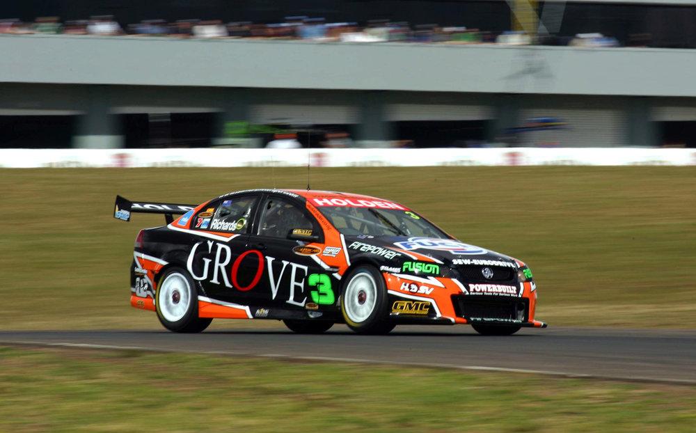 The Grove-backed Tasman Motorsport cars at the 2007 Oran Park V8 Supercars event.