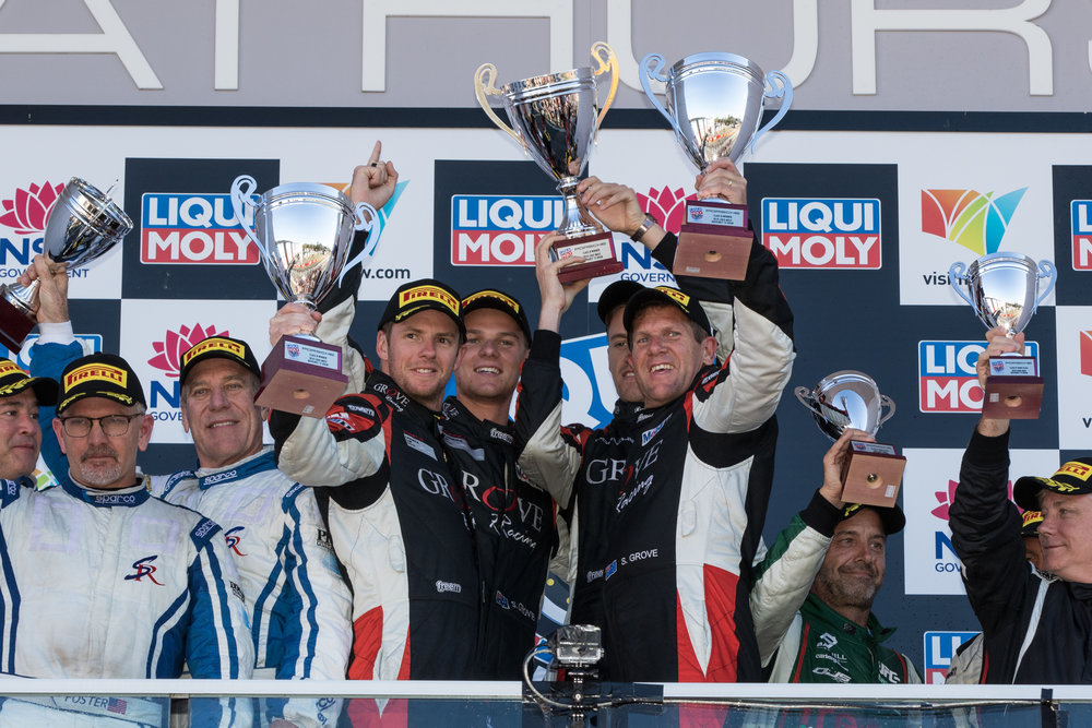 The Groves won Class B at the 2018 Bathurst 12 Hour in February.
