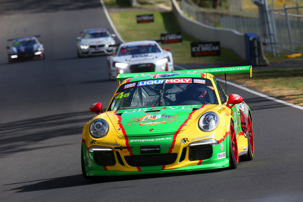 The car which Stephen and Brenton Grove shared at the 2018 Bathurst 12 Hour with Ben Barker and Daniel Gaunt.