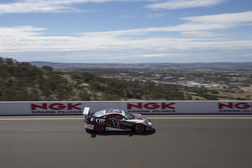 Stephen Grove at last year's Bathurst Carrera Cup Australia round.
