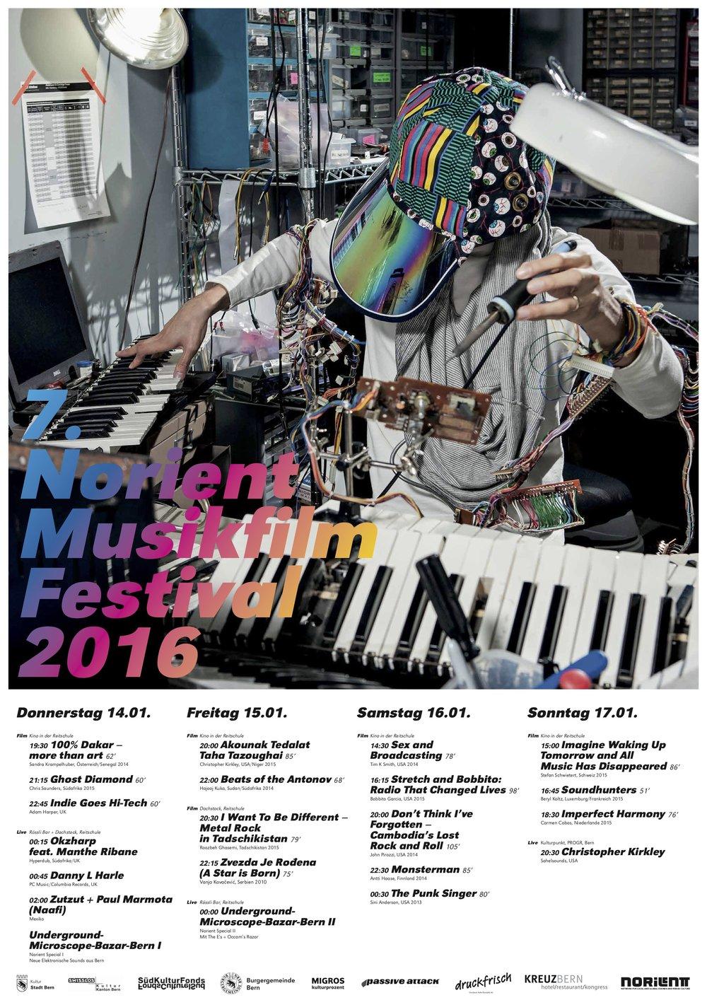 Download festival poster 2016 Art Design: Ben Aqua (USA) & Annegreth Schärli (SWitzerland)