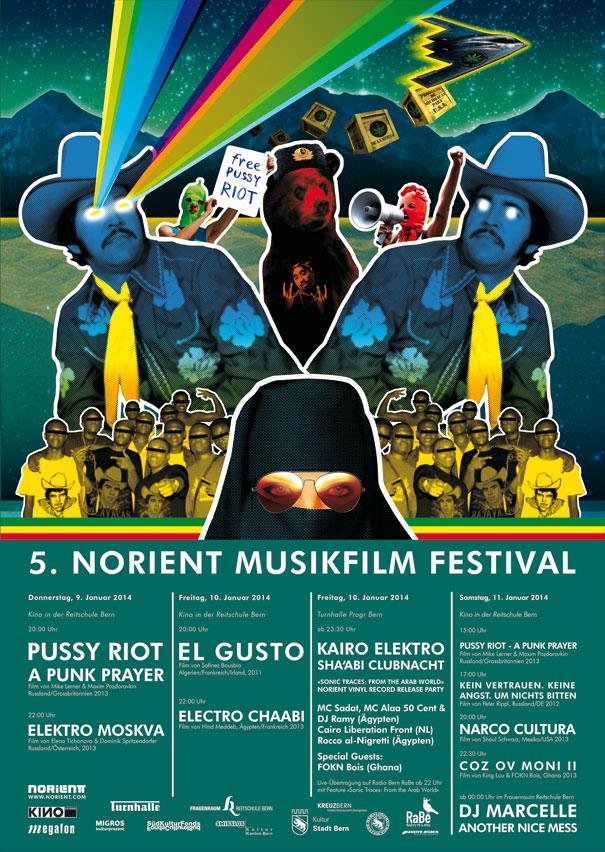 festival poster 2014 Art Design: Jorge Verdin, NOrtec Collective (Mexico)