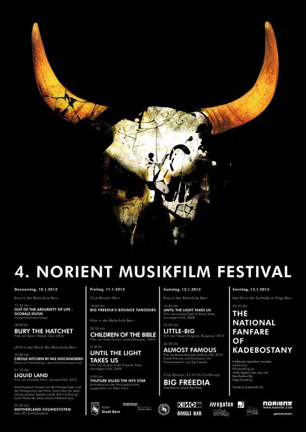 festival poster 2013 Art Design: Shonegrad O'Connor (Serbia),  Atraktor Studio )