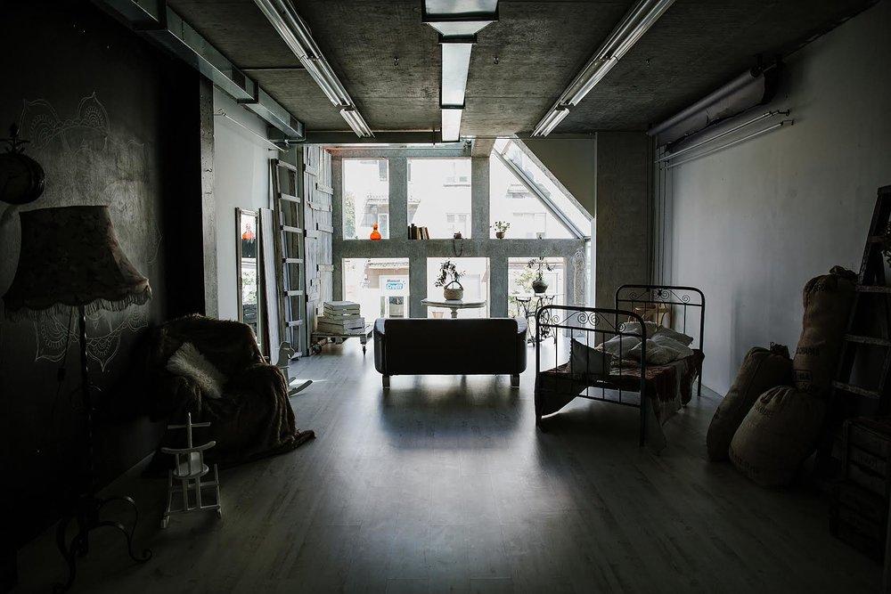 Greta's studio.