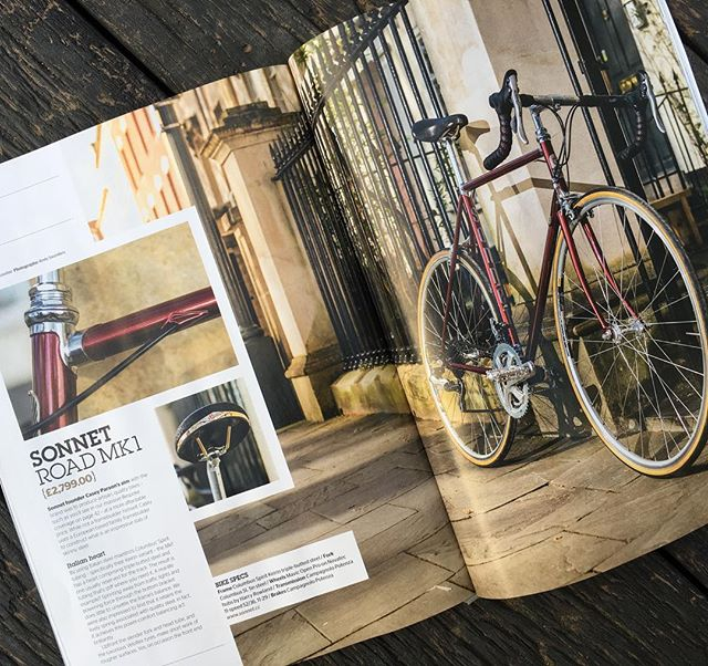 "Nice 4 page feature on the Sonnet MkI road bike in the current issue of Urban Cyclist magazine (June/July issue). Score: 8/10 ""Engaging ride, great handling, lusciously smooth and clever build"". #artisanframes #steelisreal #roadbicycle #soulofcycling"