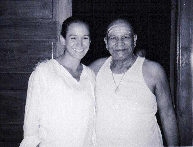 Kimberly and Sri K. Pattabhi Jois, India, 2001