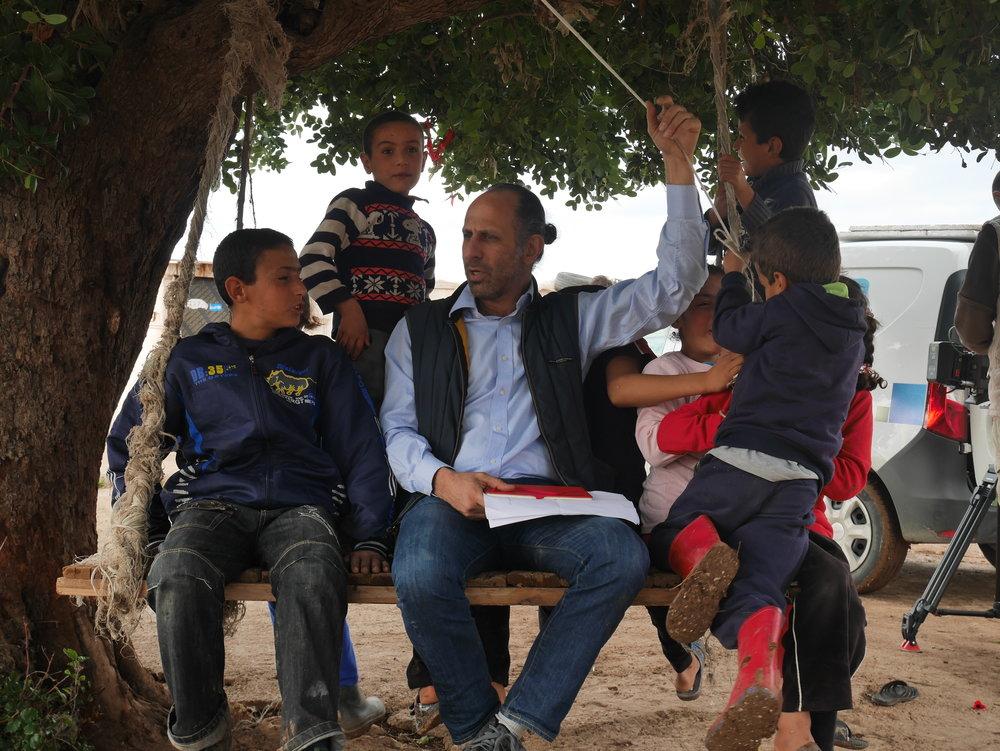 Mitgründer und Vereinspräsident Tamer Amr im Camp während der Drehpause