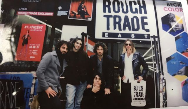 Thank you London, last stop dropping of our records at @roughtrade East ⚡️ . . . #london #roughtradeeast #bricklane