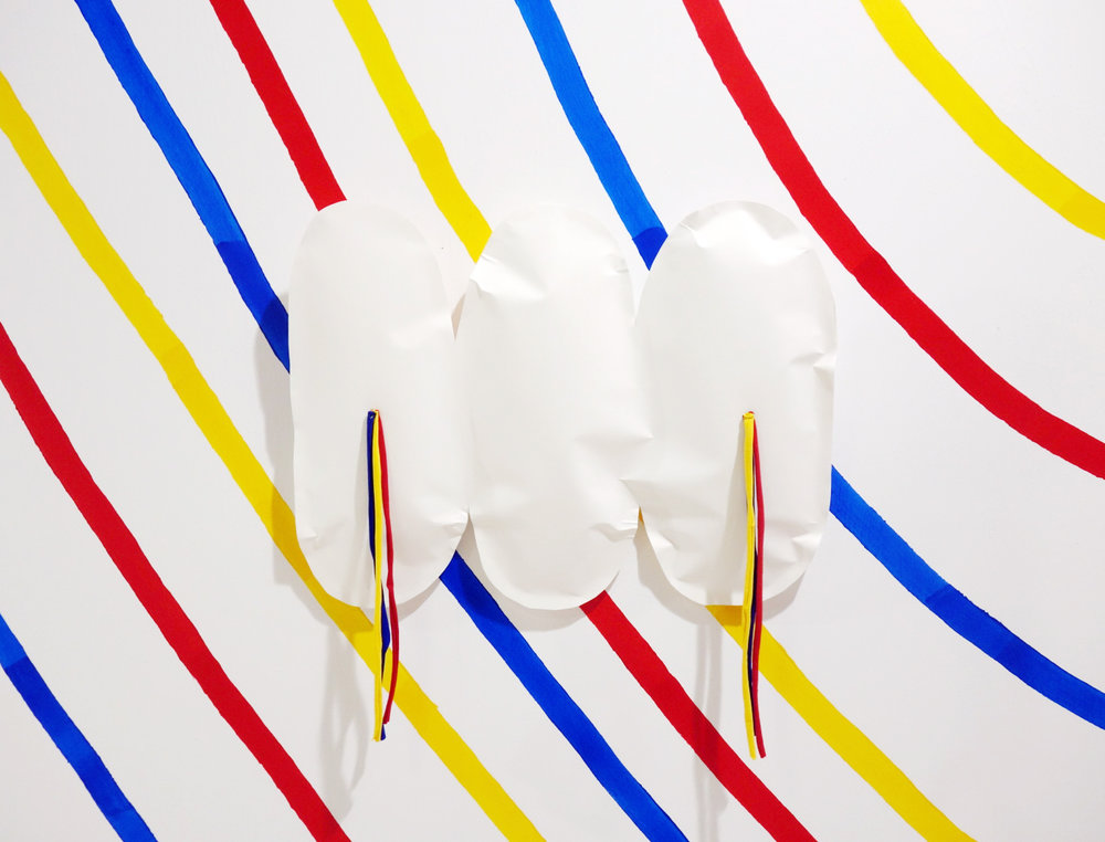 Trophy 02. Paper and fabric