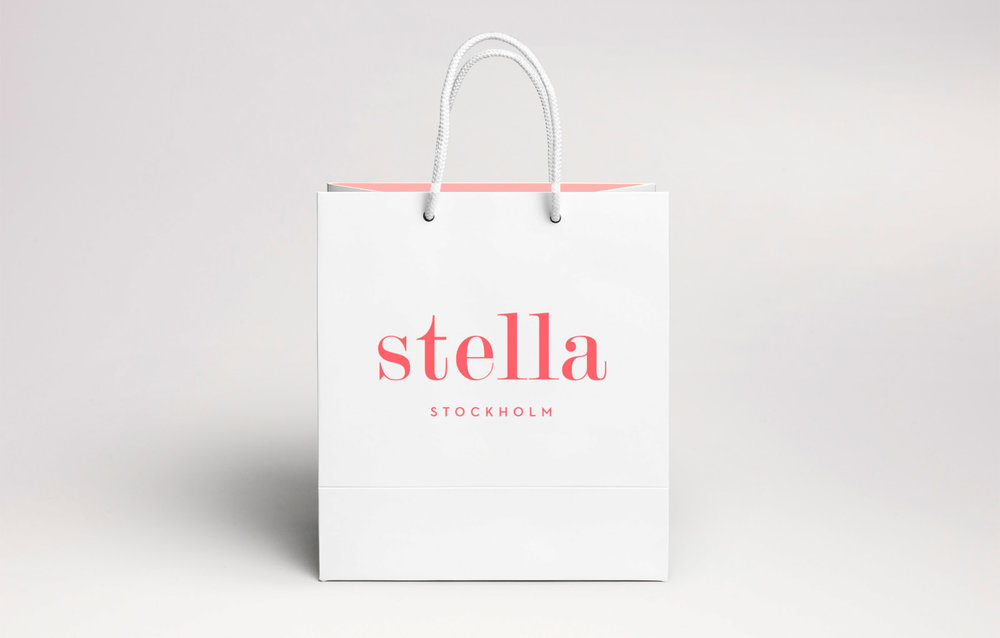Stella Stockholm - brand identity, butiksmaterial.