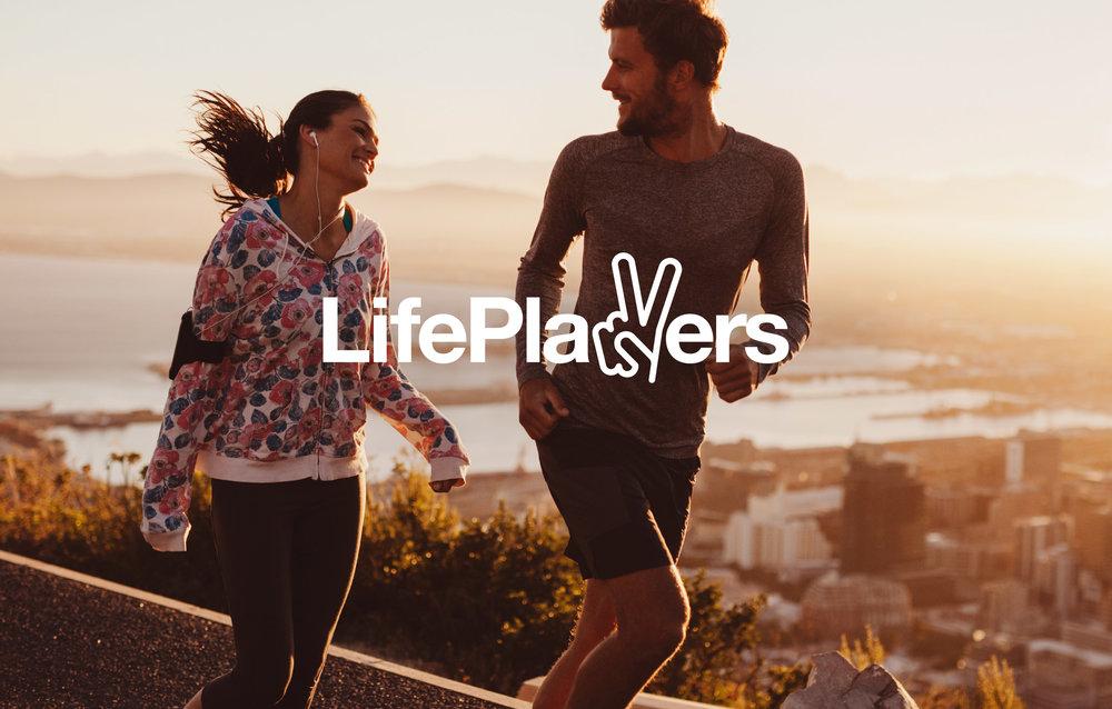 LifePlayers - brand identity samt strategisk kommunikation, webb, säljmaterial.