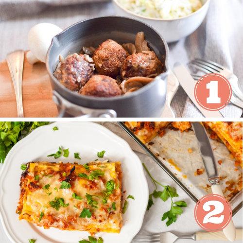 """- Repas 1 : Boulettes sauce champignon, purée de poireaux et celeri-rave: 4,7 étoiles sur 5Repas 2 : Lasagne végétarienne 4,7 étoiles sur 5Commentaires Clients:""""Lovely service - will definitely recommend it to friends."""" (Kira)Absolutely fantastic vegetarian lasagna (Stine)The lasagna was amazing! Can't wait for it to be on the menu again. (Tammy)2 repas délicieux ! (Garance)"""