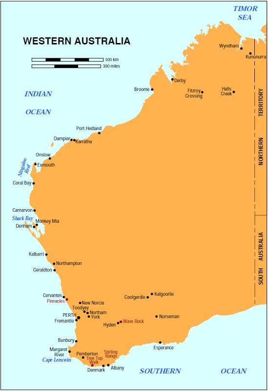Pinnacles Western Australia Map London Map - Map of western australian towns