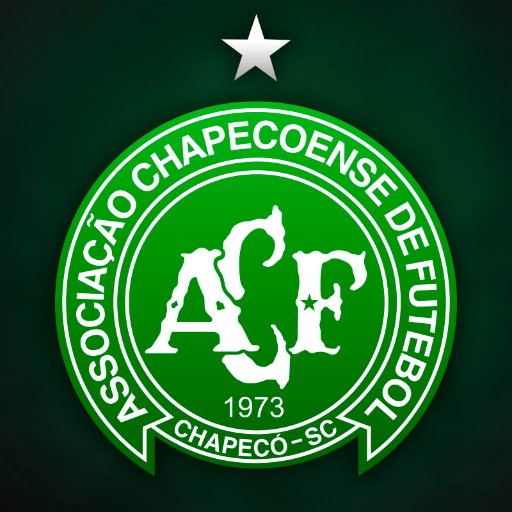 "Chapecoense's new shield. The big star for their Copa Sudamericana Cup and the small star inside the ""F"" for their fallen players and staff."