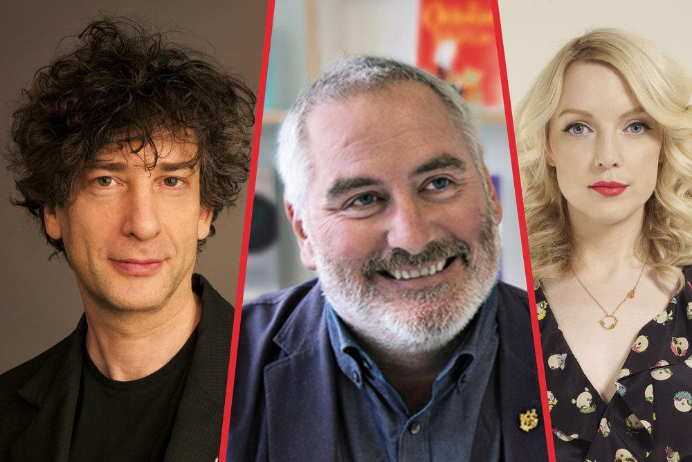 Neil Gaiman, Chris Riddell, Lauren Laverne