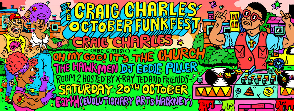 craig charles illustrated poster