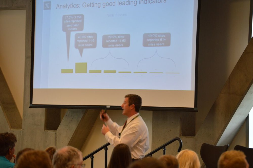 Dr. Shawn Bergman discussing how the numbers can tell a story to organizations.