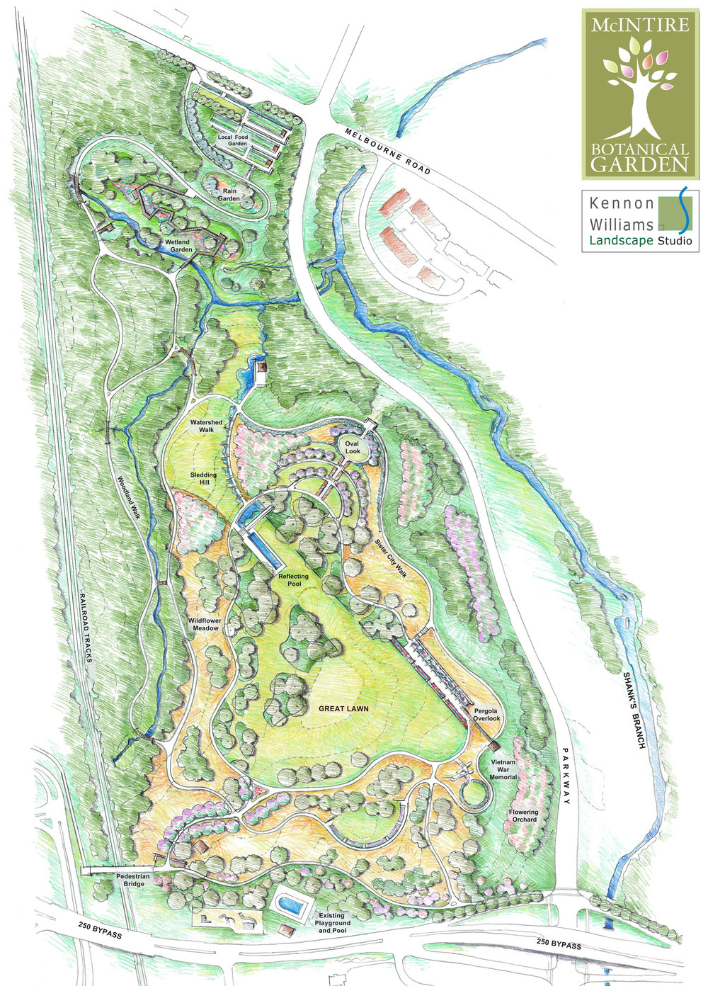 Proposed McIntire Botanical Garden Master Plan