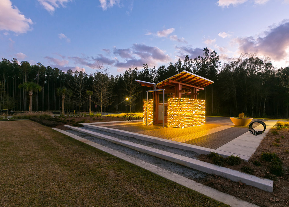 Nexton New Town Postal Pavilion and Site by KWLS
