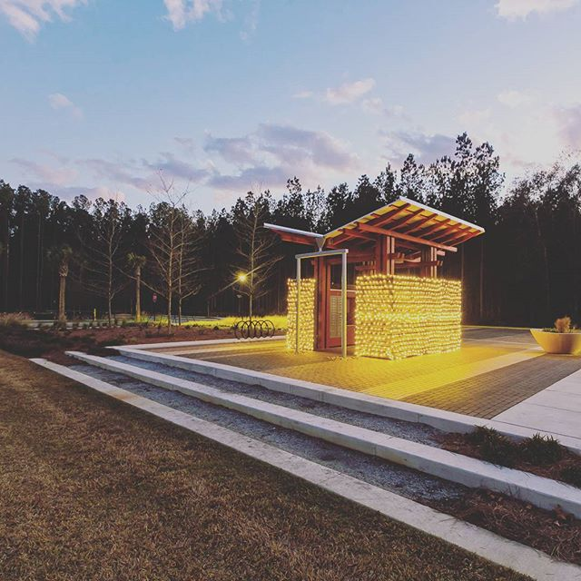 Nexton Postal Pavilion during the holidays