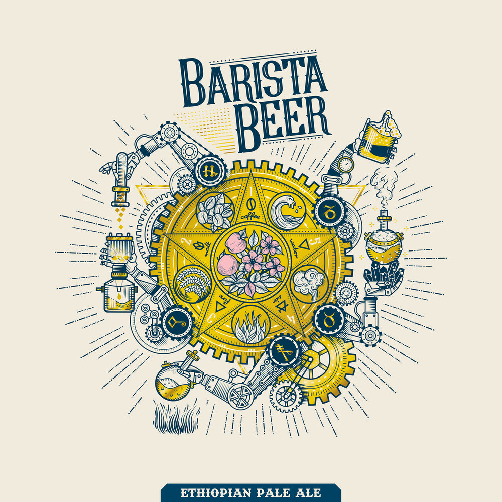 Developed from our American Pale Ale with the presence of fruity Ethiopian single origin coffee beans. Dark amber in colour, coffee on the nose, hint of citrus from the hops with long coffee finishing at the end.  ABV 5.5%, IBU 34  Ingredients: Water, Barley Malt, Hop, Yeast and Coffee