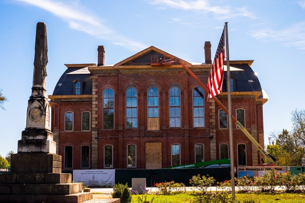 "Hancock County Courthouse in Sparta, Georgia, ""Her Majesty"" (Image caputured by John Lee Fisher)"