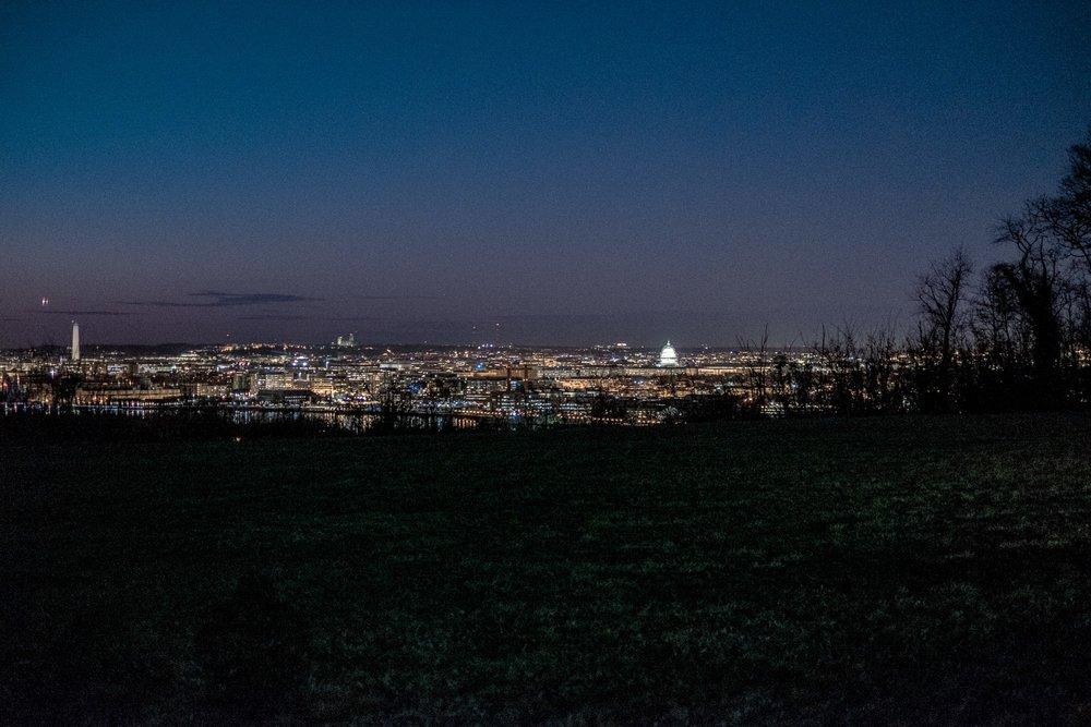 The Washington, D.C. skyline (Image captured by John Fisher)