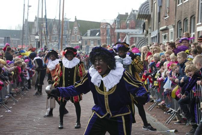 You're right, Netherlands. One Black Pete isn't enough. Let's get a bunch of 'em to march down the street.  AP Photo / Peter Dejong