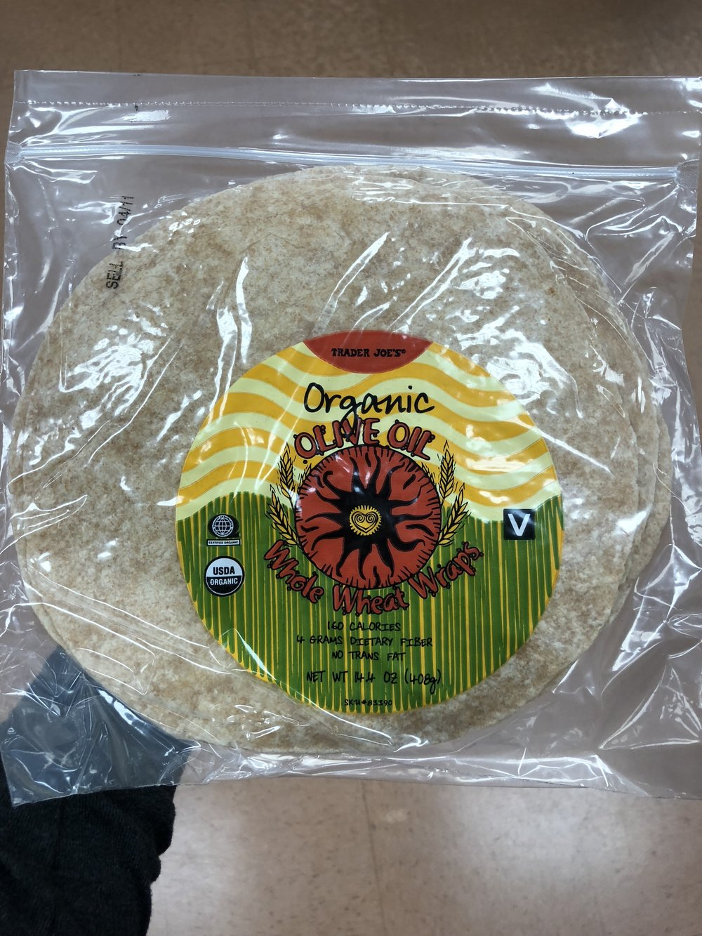 Organic Olive Oil Whole Wheat Wrap.JPG