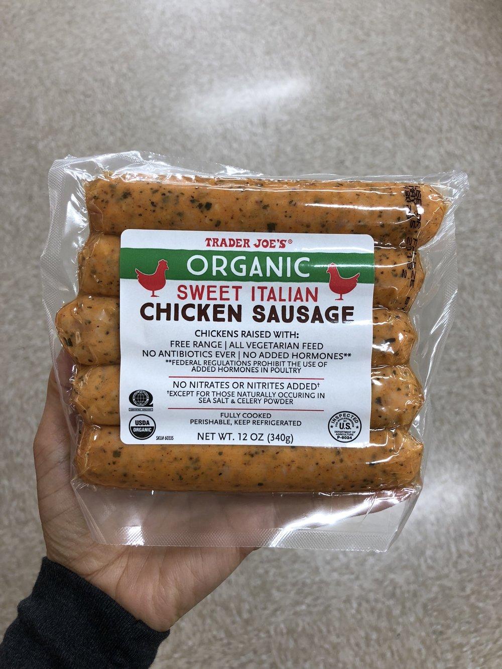 Organic Sweet Italian Style Chicken Sausage .JPG
