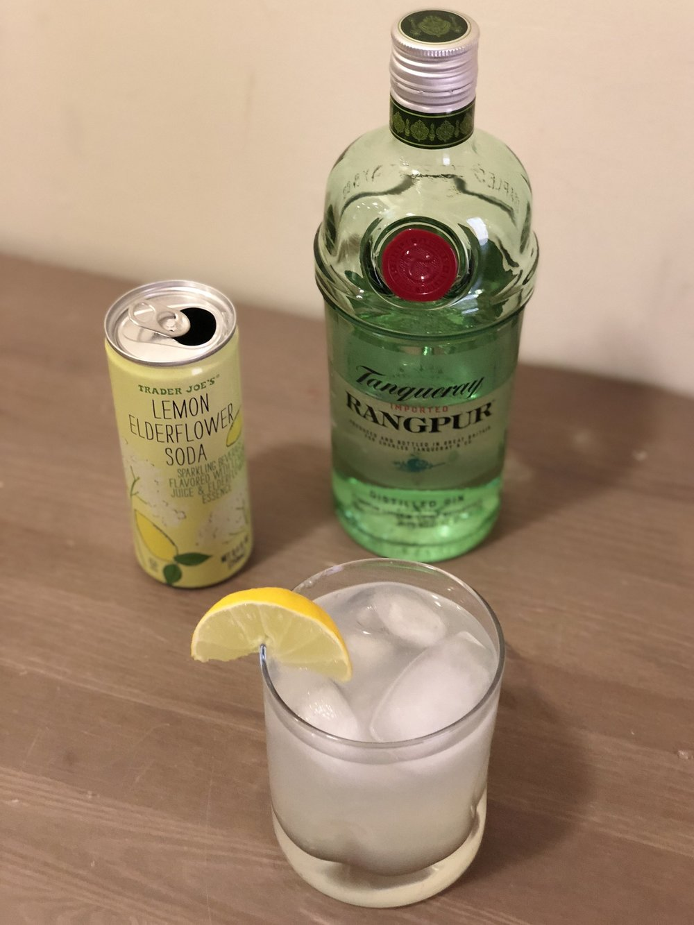 AAY Nutrition Trader Joe's Lemon Elderflower Gin Fizz
