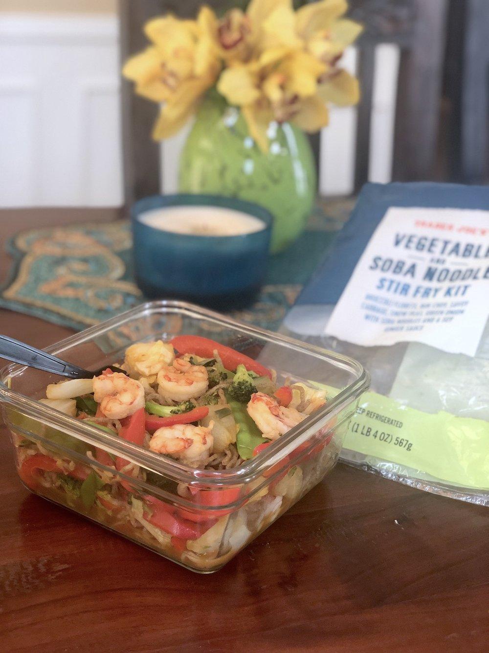 AAY Nutrition Trader Joes Soba Noodles Dinner Recipe
