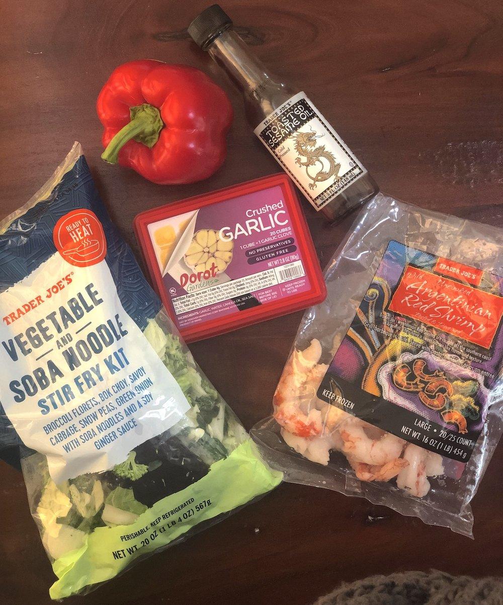 AAY Nutrition Trader Joes Soba Noodles Dinner Ingredients