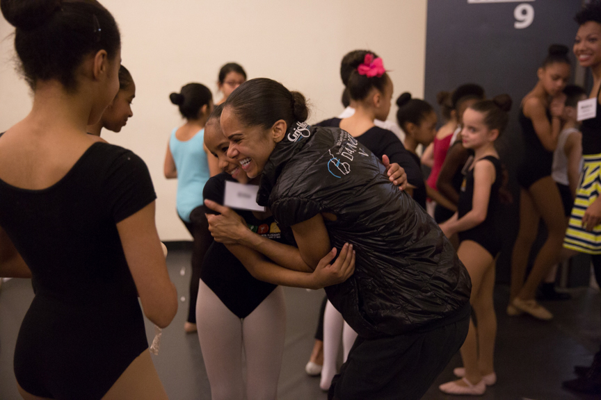 Misty Copeland visits dancers under Project  Plié