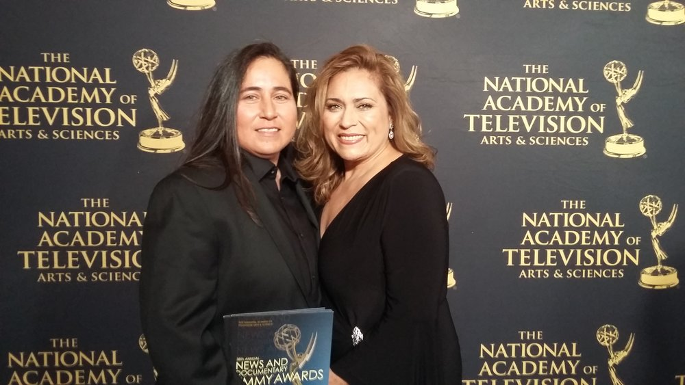 Vasquez at the Emmys with Denise Tristan. Photo courtesy of Anna Vasquez.