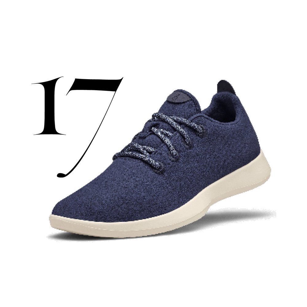 All Birds - A certified B Corp, Allbirds uses a revolutionary merino wool fabric for all their footwear. They also have a recycle program in partnership with Soles4Souls.Men's Wool Runners - Limited editionTuke Midnight $95.00