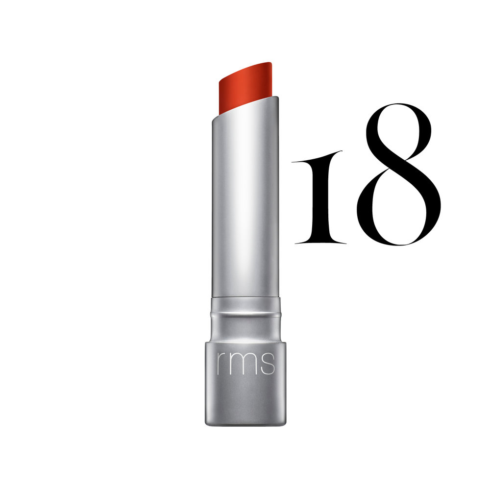 RMS Beauty - Certified organic, gluten free, GMO free, soy free, nano free and not tested on animals. RMS Beauty packaging uses recycled glass and an aluminum recyclable lid.Wild With Desire Lipstick - Firestarter $28.00