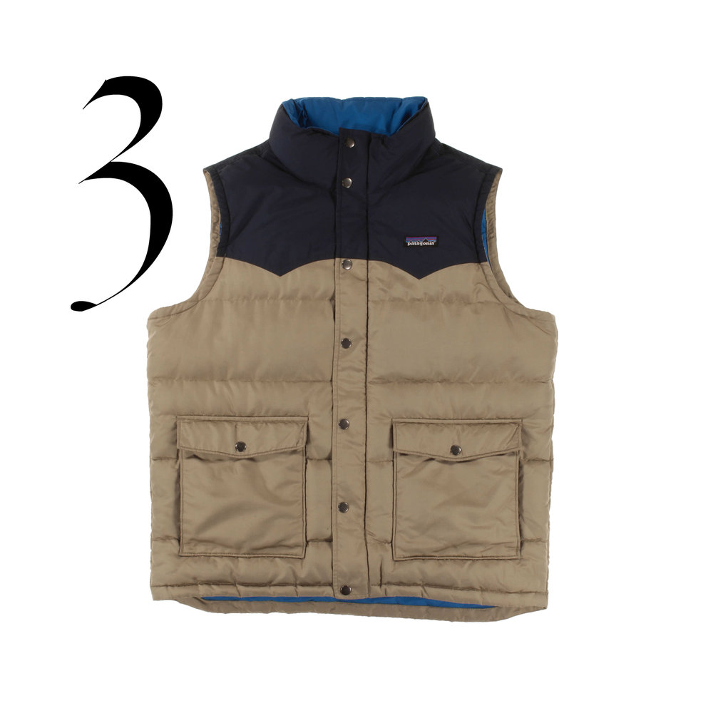 Patagonia Worn Wear® - Men's Slingshot Down Vest in small - Used. Apparently wearing your clothes an extra nine months can reduce the related carbon, water and waste footprints by 20-30%. (Wrap, 2012)Retro Khaki $135.00