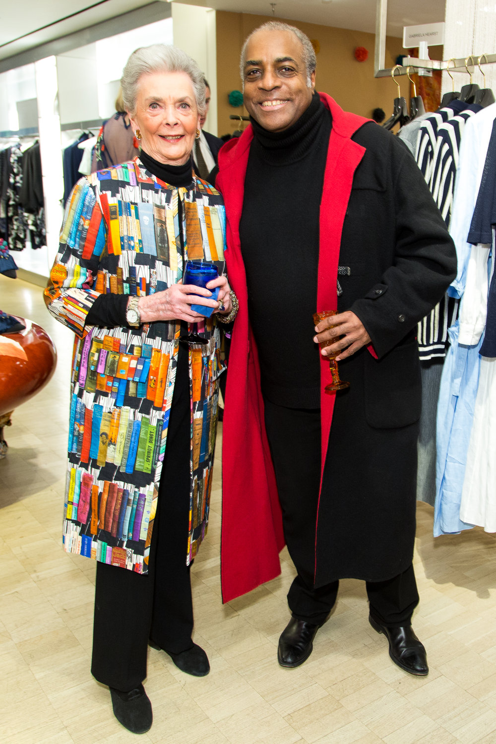 Halbreich and guest at Iris Apfel book launch 2018.